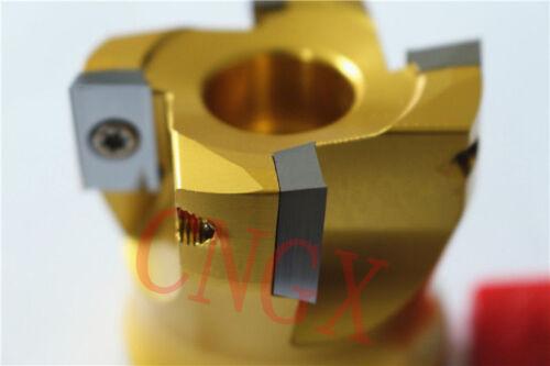 1P New 4F Face Milling Aluminum Cutter BAP 400R-S50-22-4T 4PCS APMT1604 Insert
