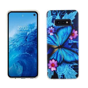 Samsung-Galaxy-S10e-Custodia-Protettiva-per-Cellulare-Bumper-Farfalla-Blau