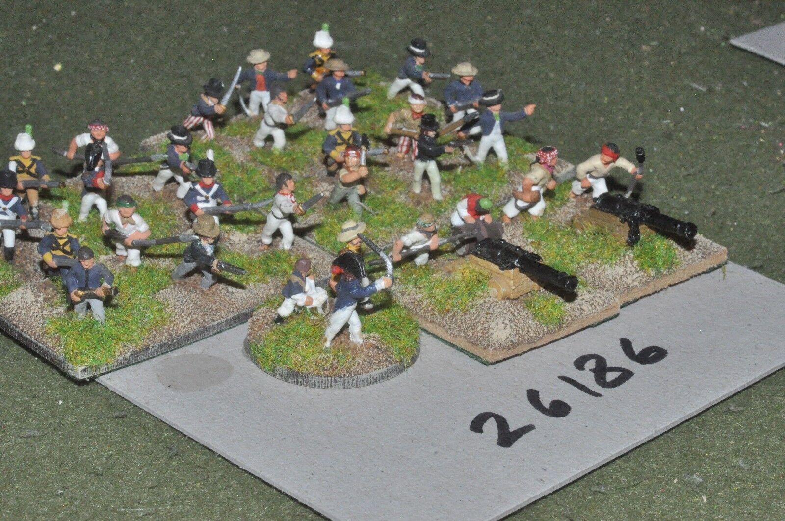 15mm napoleonic   british - naval landing party 31 figures - inf (26186)