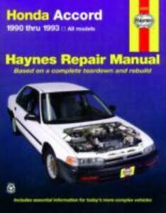 haynes manuals honda accord 1990 1993 by john haynes and mike rh ebay com 1994 honda accord ex repair manual 1994 honda accord lx service manual