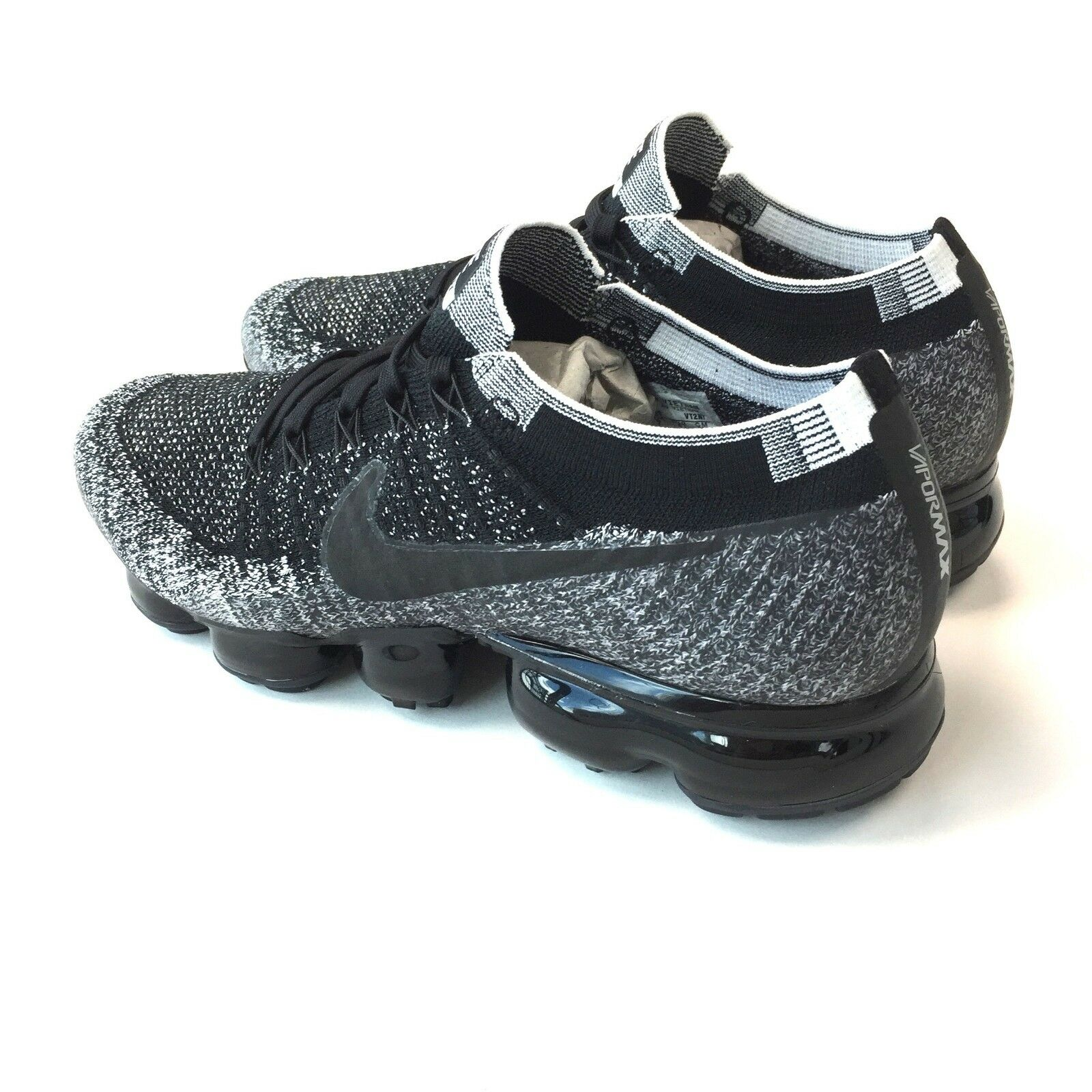 06e952f5c3a6 NWT Nike Men s Air Vapormax ID Flyknit NikeID Black White Oreo DS 12  AUTHENTIC