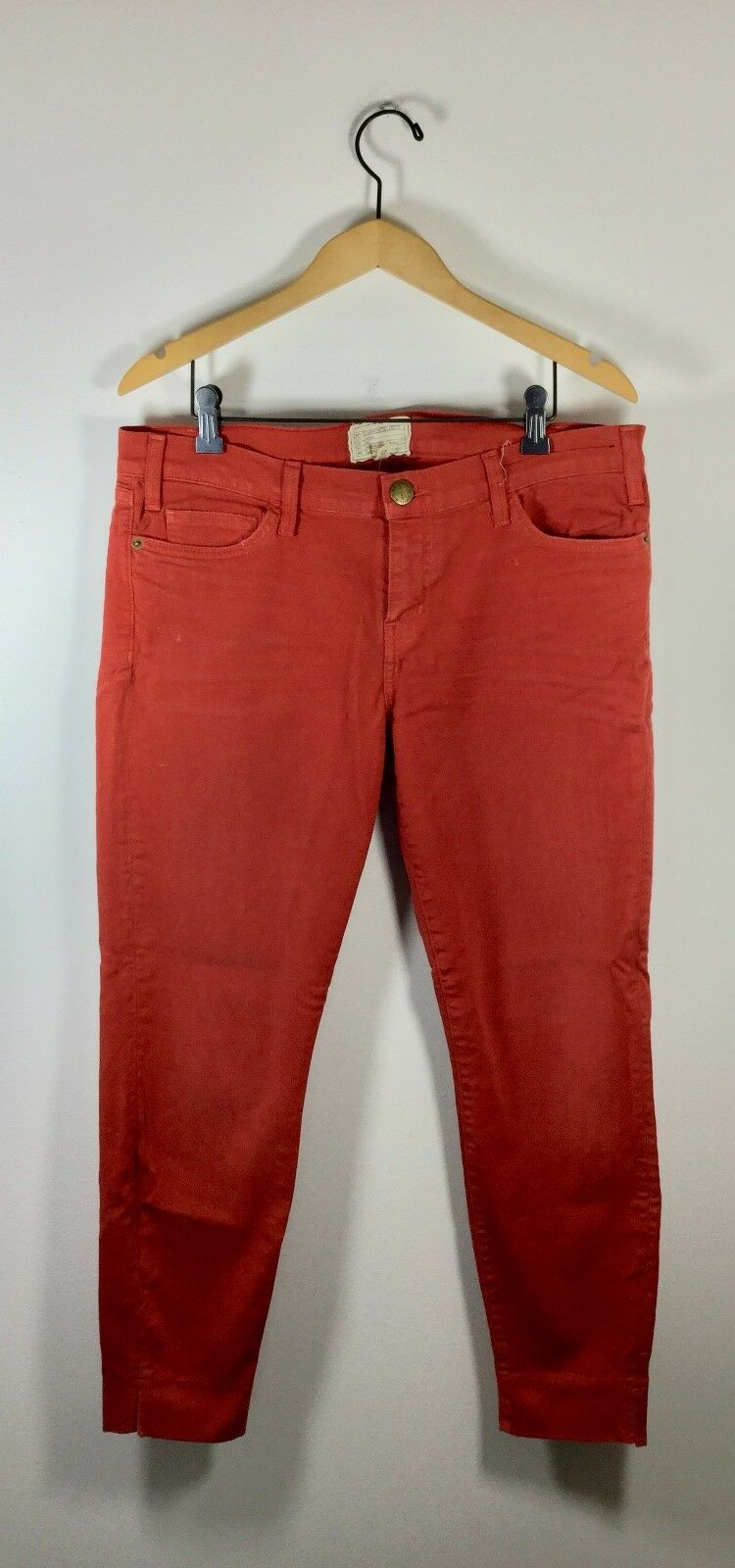 CURRENT ELLIOTT Paprika orange Size 32 Slit Stiletto Skinny Leg Pant Jeans