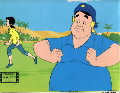 GILLIGAN'S ISLAND Original Production Cel x2 with background, 1974,Mary An