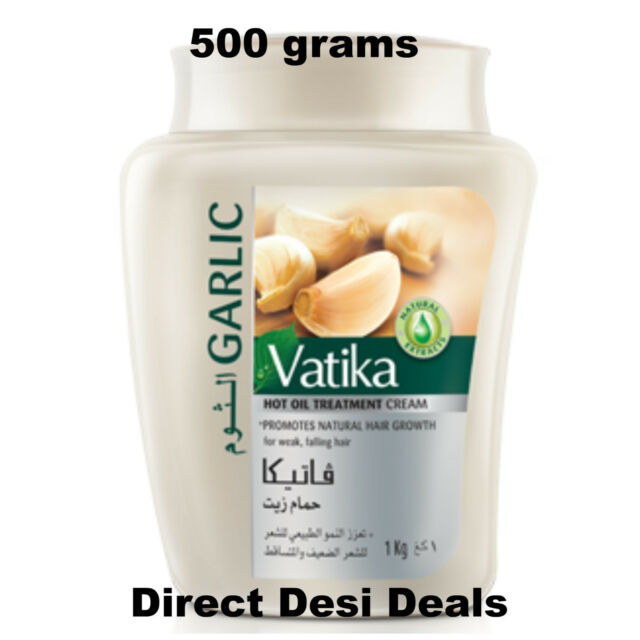 Dabur Vatika 500g GARLIC Hair Mask Oil Treatment Cream PROMOTE HAIR GROWTH USA