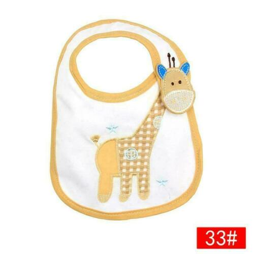 Baby Girl Boy Waterproof Cartoon Towel Kids Toddler Sale Dinner Feeding Bib F8W0