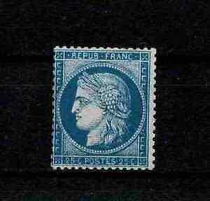 FRANCE-STAMP-YVERT-60Aa-SCOTT-58-034-CERES-25c-DARK-BLUE-1871-034-MNH-VF-SIGNED-V238
