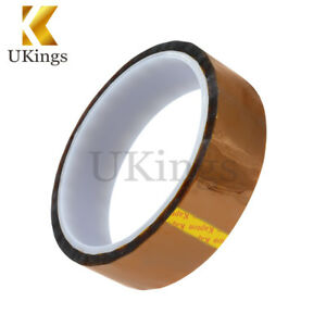High Temperature 20mm x 30m Kapton Polyimide Sticky Adhesive Tape Heat Resistant
