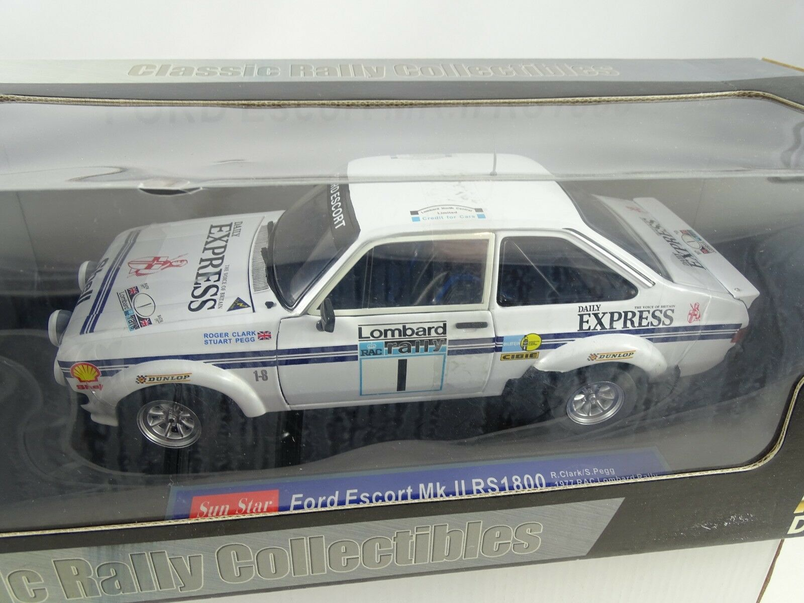 1 18 SUN STAR  4434 Ford Escort Mk. II rs1800 1977 RAC Lombard Rally  1 RARE §