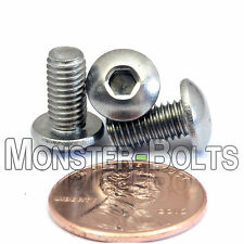 M5 x 10mm - Qty 10 - A2 Stainless Steel BUTTON HEAD Socket Cap Screws - ISO 7380