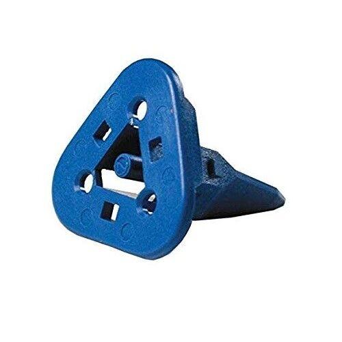 Lot of 6 W3S-1939-P012 Wedge Lock for 3 way plug// Blue DEUTSCH