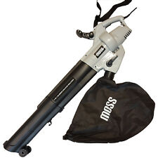 MOSS 3000W Leaf Blower 3-in-1 - Blows, Vacuums and 10:1 Mulches Leaves 42L Bag