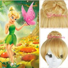 USA Ship Fairy Tinker Bell From Cartoon Blonde Short Curly Hair Cosplay Wigs
