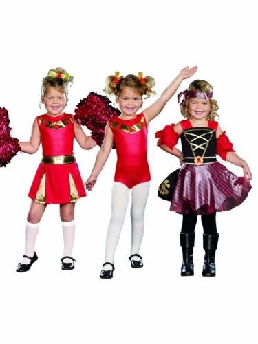 new High Spirits 3 In 1 Halloween Costume Cheerleader Gymnast Pirate Child 8-9