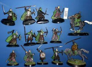 12 Guerriers Du Rohan + 2 Cavaliers-le Seigneur Des Anneaux Plastique Hommes De Rohan Citadel-afficher Le Titre D'origine Dans La Douleur