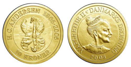 """DENMARK DANMARK 10 Kroner 2005 ANDERSEN KM 898 /""""THE UGLY DUCKLING/"""" UNC"""