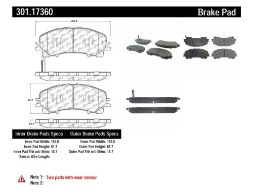 Disc Brake Pad Set-Premium Ceramic Pads with Shims and Hardware Front,Rear