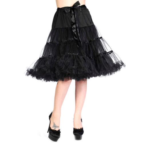 Banned Vintage Rockabilly Swing sottoveste Petticoat-Lace Bow Fiocco Punta