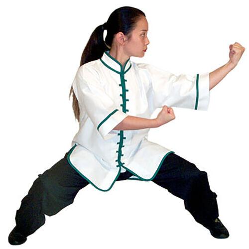 White Interloop Kung Fu Tops