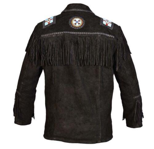 Black Perles Style Fringe Mens Wear Cowboy Western Su q8OwOpz