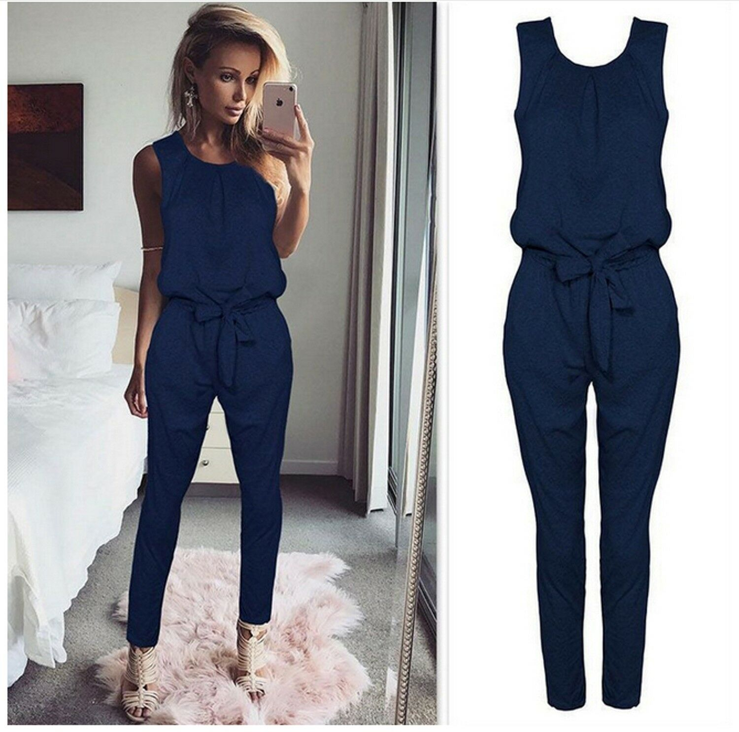 5cc9d9cea14f UK Womens Bandage Evening Party Playsuit Ladies Romper Long Jumpsuit Size 6  -16. ❤ BRAND NEW STYLE ❤ FAST DELIVERY ❤ SIZE 8 - 14 ❤ 2018❤
