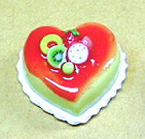 1-12-Heart-Cake-With-Strawberry-Icing-Dolls-House-Miniature-Food-Accessory-NC11