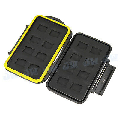 JJC Water Resist Holder Storage Memory Card Case For CF TF SD MicroSD MS  XD SXS