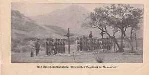 Kolonien 1871-1918 Deutsch-südwestafrika Dswa Militär Ramansdrift Begräbnis Foto Zeitung Von 1911 Attraktive Mode