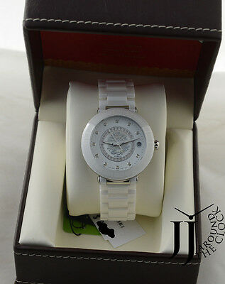 New Fossil White Ceramic Chinese Zodiac 2012 Limited Edition MOP Daimonds LE1011