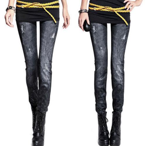 Womens Stretch Skinny Denim Jeans Casual Leggings Pencil Pants Jeggings Trousers
