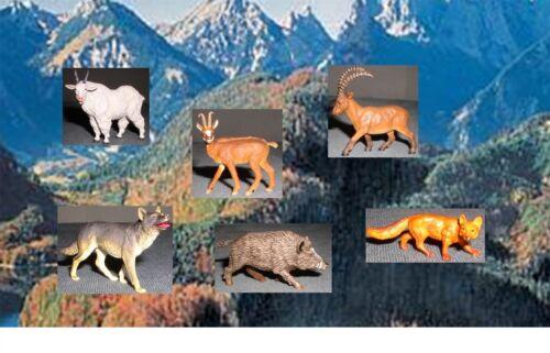 Wolf Maßstab 1:25 Spur G Preiser//Elastolin-Wildtiere Varianten 1 Gemse Fuchs