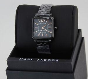 NEW-AUTHENTIC-MARC-JACOBS-VIC-BLACK-WOMEN-039-S-LADIES-MJ3518-WATCH