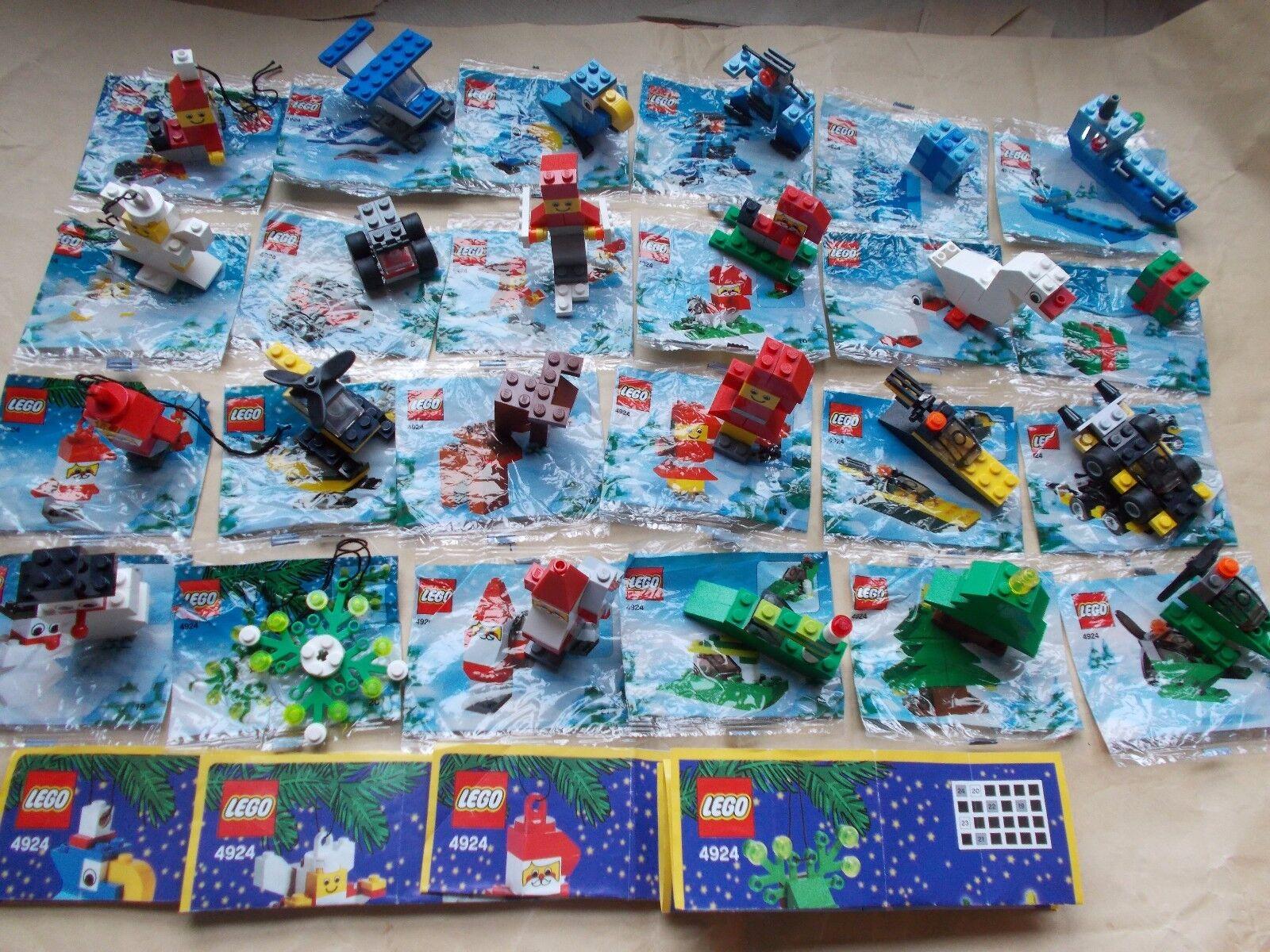 LEGO CALENDARIO AVVENTO Set 4924, costruire 24 modelli, decorazioni albero di 4 o 4 Scene