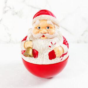 Vintage-Samaco-Rolly-Santa-Musical-039-Here-Comes-Santa-Claus-039-Decoration-Kitsch