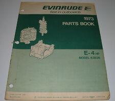 Parts Book Evinrude Fisherman E-4 HP Model 43B36 Ersatzteilkatalog Stand 1973!