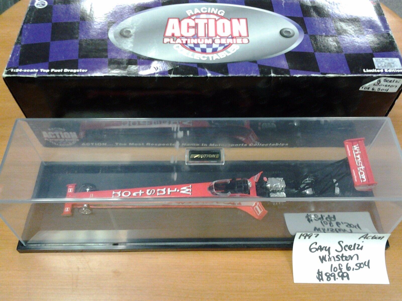 Gary Scelzi 1997 Winston NHRA 1 24 Action NIB 1 of 6,504 in Display Case Drag