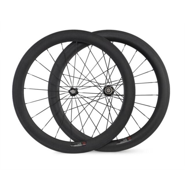 700c 60mm hoch Carbone Schlauchreifen Laufräder carbongevebe Fahrrad Laufradsatz