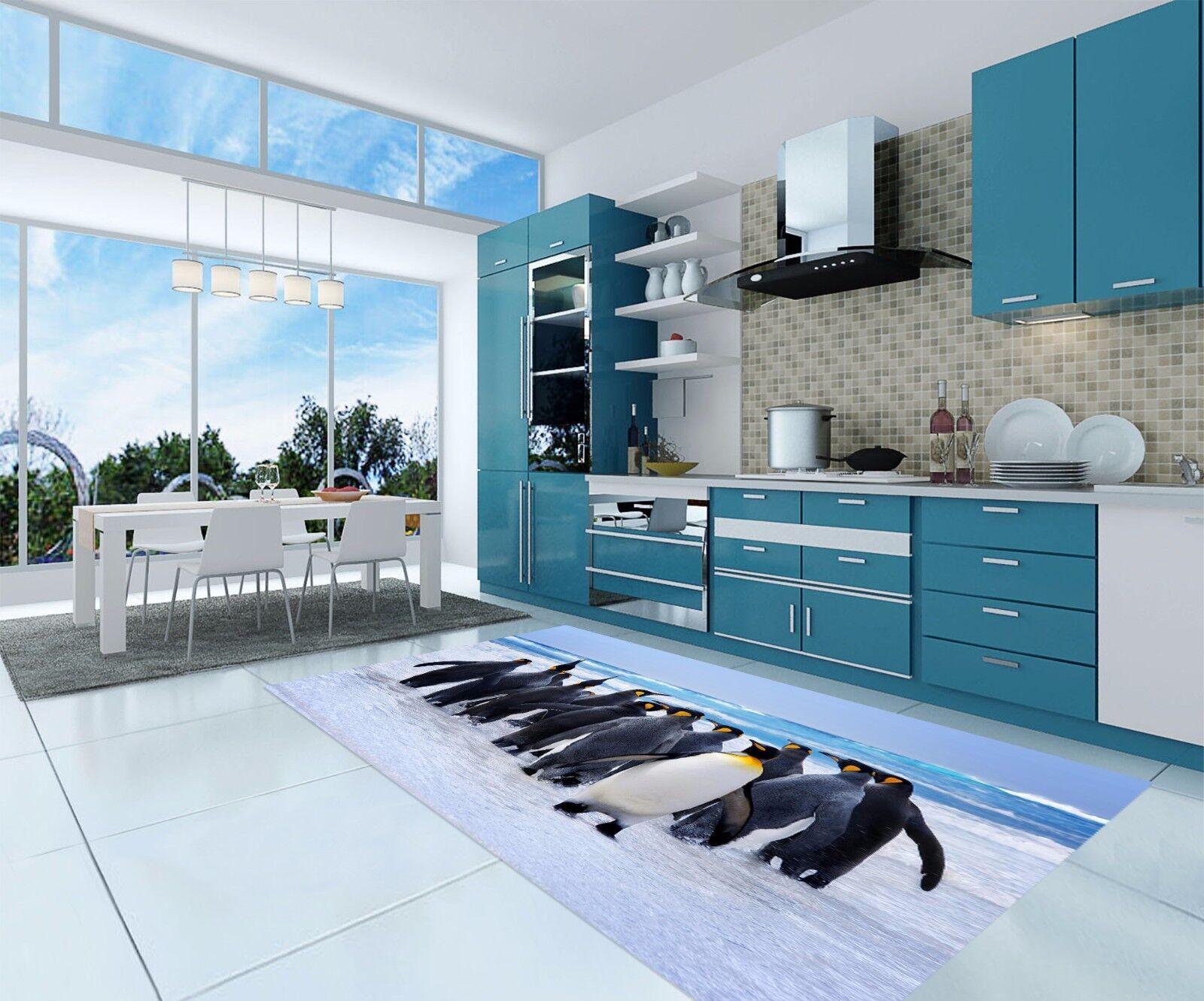3D Penguin 837 Kitchen Mat Floor Murals Wall Print Wall AJ WALLPAPER AU Kyra