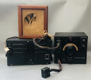 Vintage Radio Pre WW2 Air Ministry RAF Marconi/Ormond Wireless Receiver& Speaker