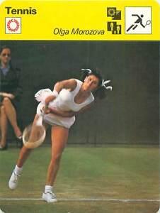 FICHE-CARD-Olga-Morozova-epouse-Rubenov-USSR-URSS-TENNIS-1970s