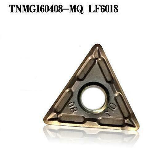 10PCS TNMG160408-MQ LF6018 CNC lathe carbide insert tool turning tool for metal