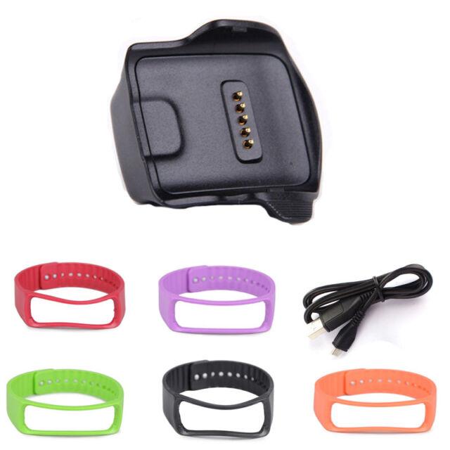 Charge Dock für Samsung Galaxy Gear Fit R350 Uhr +Kabel+Armband Gezeiten