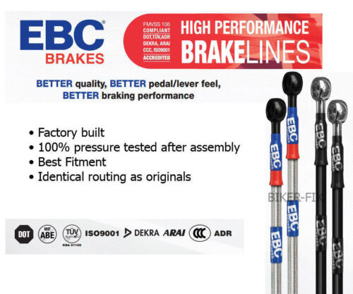 Suzuki GSF600Y-K4 BANDIT 00-05 EBC Uprated Braided Rear Brake Line Hose
