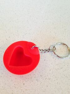 Tupperware Key Ring Keychain Collector s Item Red Heart Magic Baking ... 85b5fc8c0
