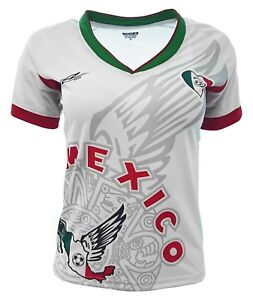 d5e70e07607 Image is loading Mexico-Women-Fan-Jersey-White-Exclusive-Design-V-