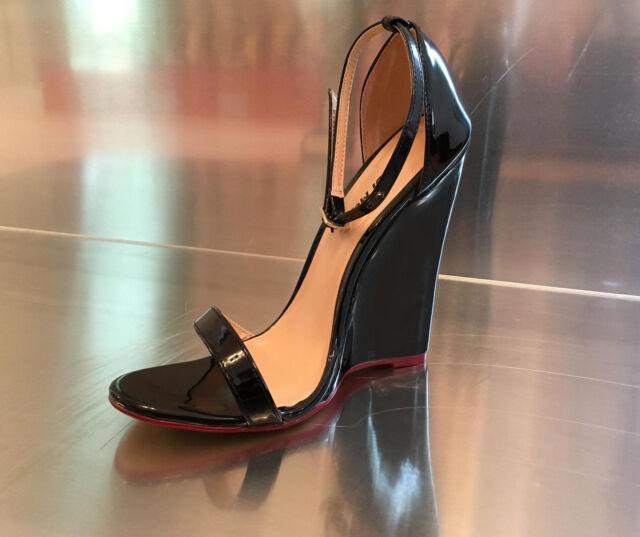 Gr.41 ! Hohe Sandale in großen Größen !  14cm High Heels Wedges Absatz Pumps