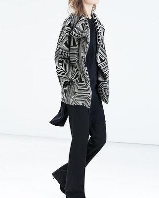 Coats, Jackets & Vests Zara Printed Short Coat With Lapels-ref 5274/245-sz M-nwt Large Assortment Women's Clothing