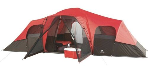 Grande tente camping outdoor Ozark Trail 3 Chambre 10 personne Family Outing Imperméable