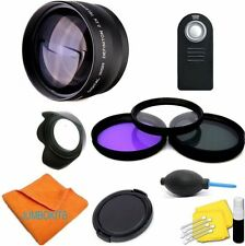 58MM 2X SPORTS ACTION Telephoto Zoom Lens KIT for Canon EOS Rebel DSLR T3 T
