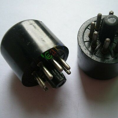 4PC 8 PIN Bakelite VACCUM TUBE SOCKET SAVER BASE FR 6L6 EL34 KT88 6550 audio amp