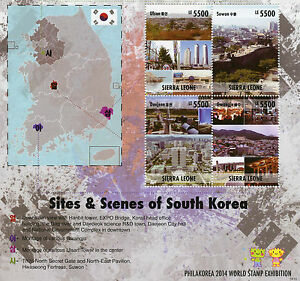 Sierra-Leone-2014-MNH-Sites-amp-Scenes-South-Korea-4v-M-S-II-Philakorea-Stamps